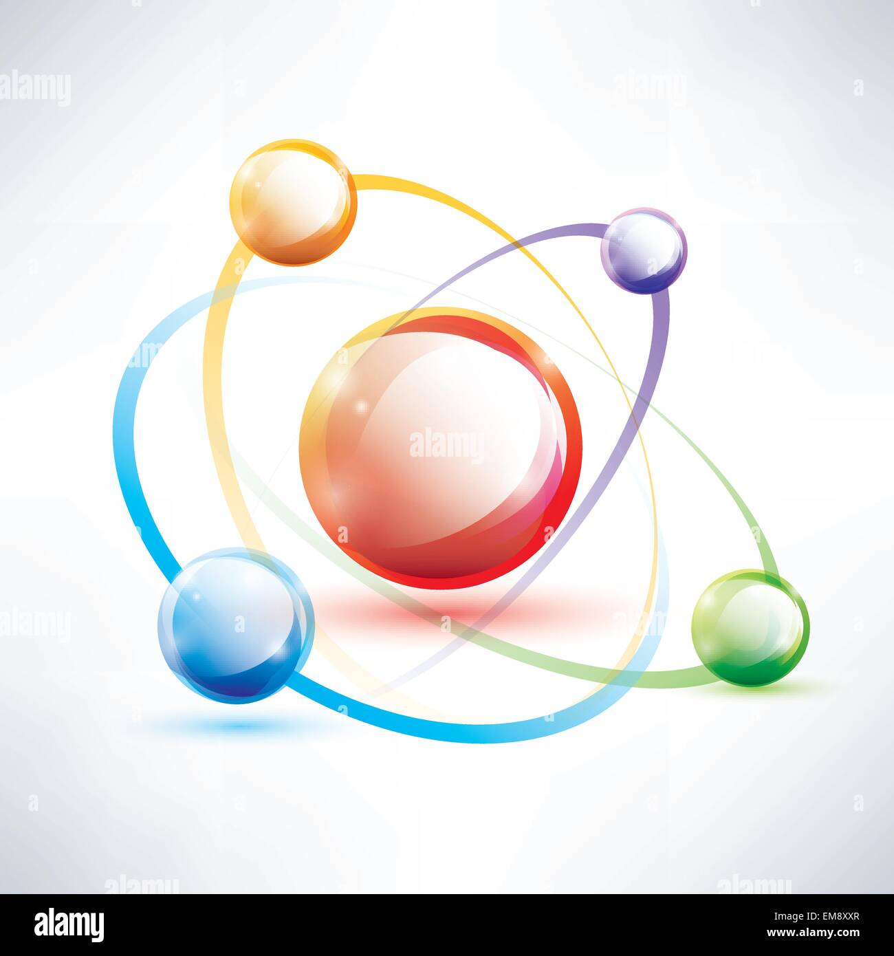 Atom structure abstract glossy icon science and energy concept atom structure abstract glossy icon science and energy concept ccuart Images