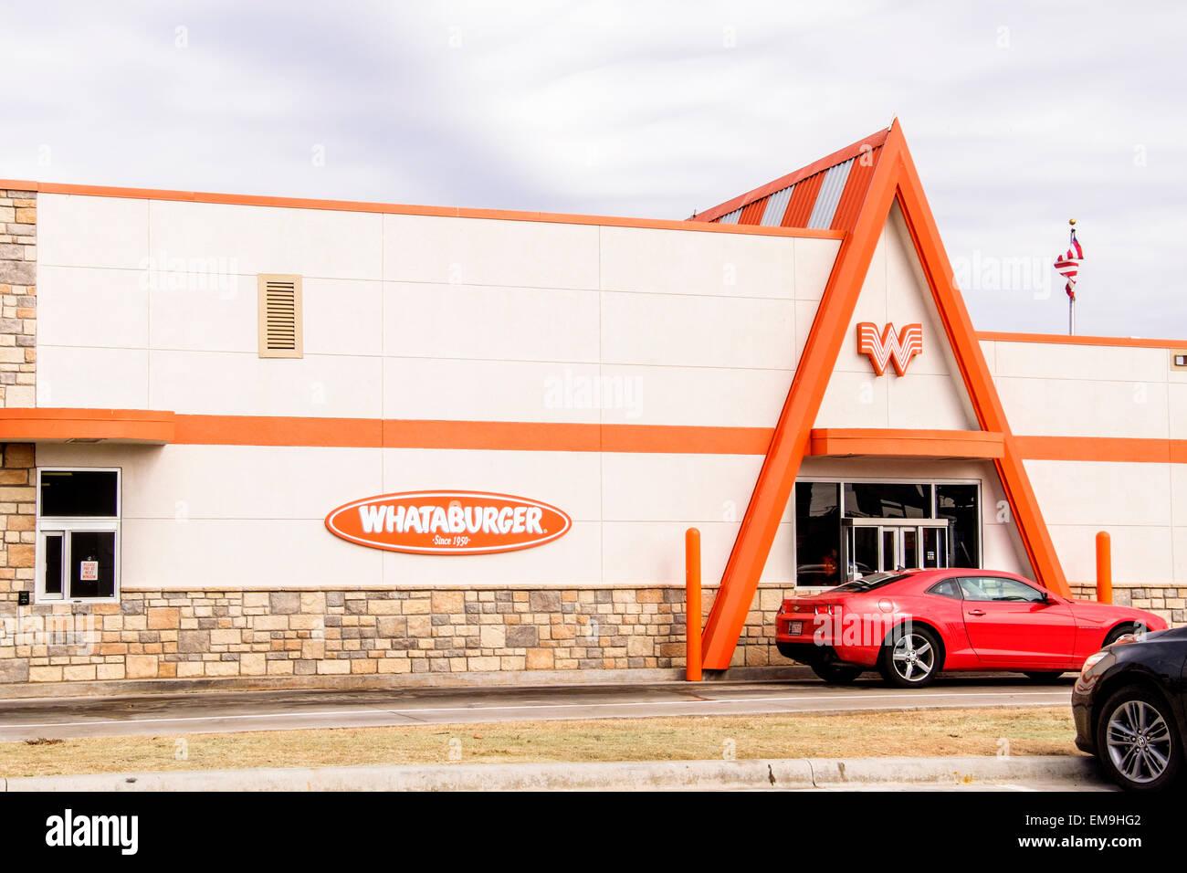 The Front Exterior Of A Whataburger Franchise Hamburger Restaurant