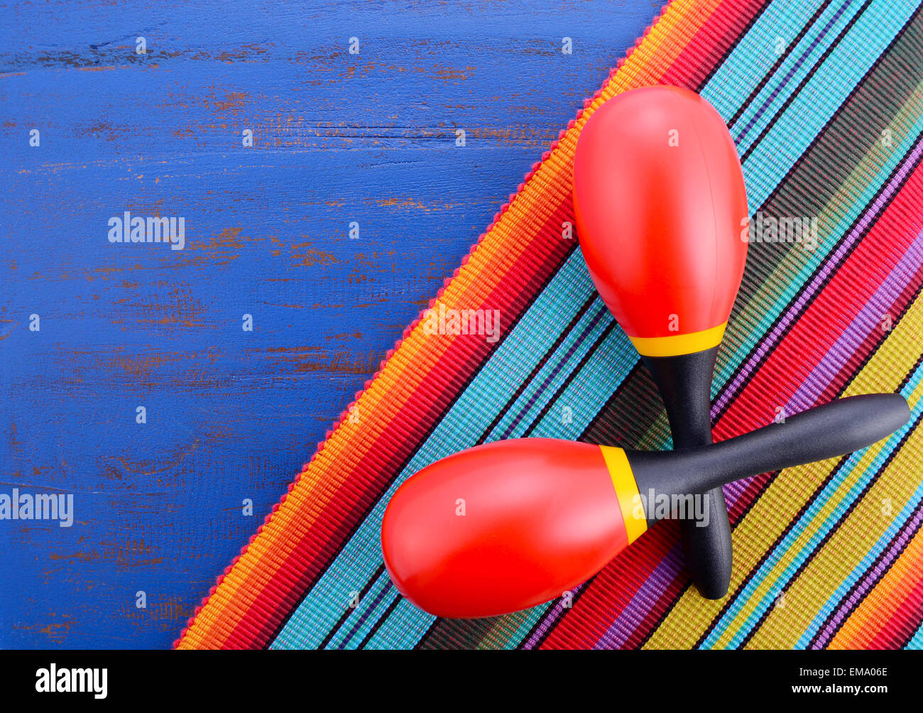 happy cinco de mayo background with colorful maracas on mexican