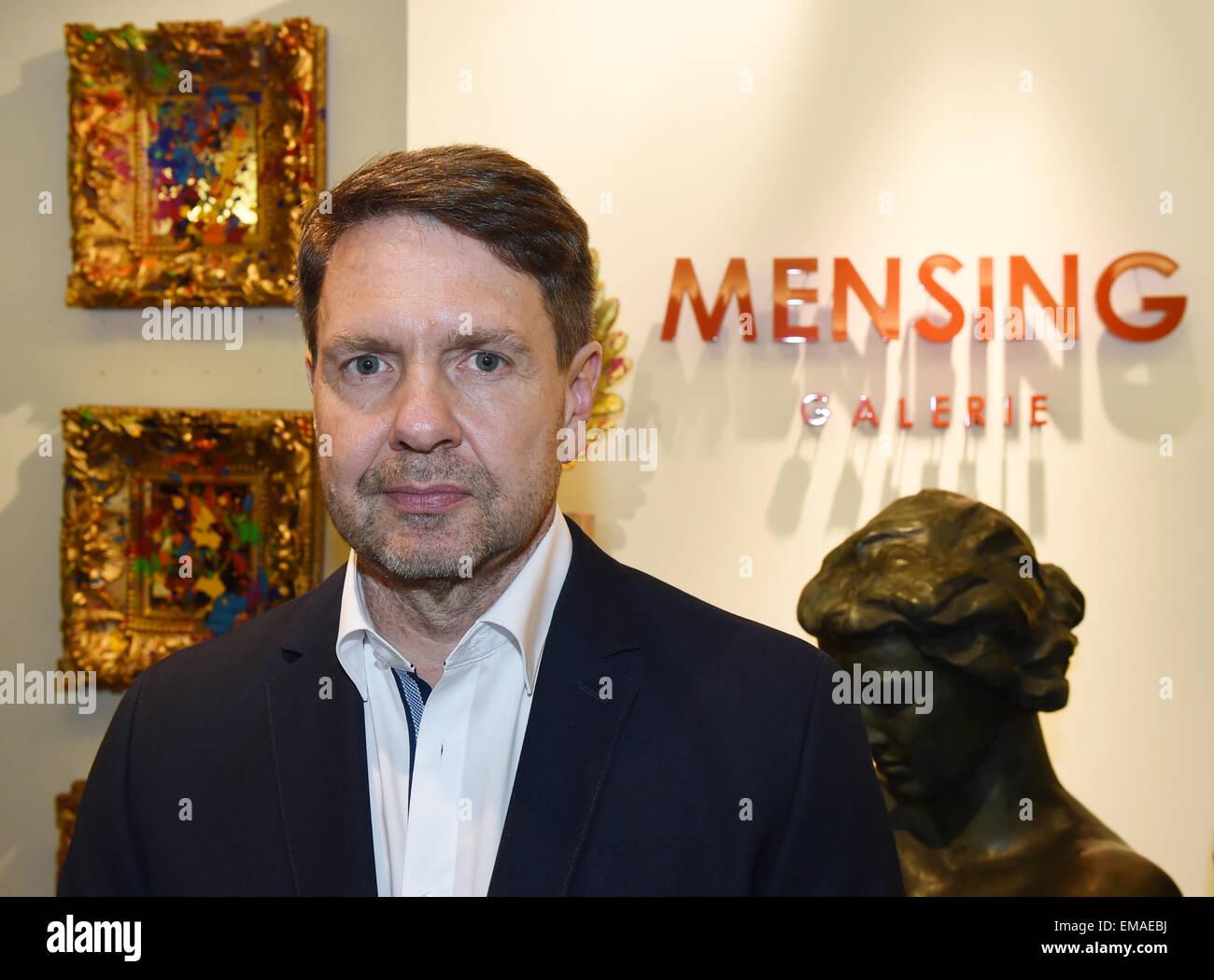 Mensing Galerie gallery owner harry mensing poses in his gallery galerie mensing in
