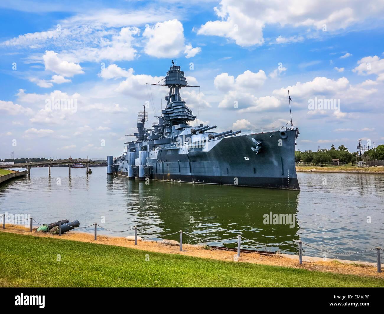 The Famous Dreadnought Battleship Texas - Stock Image