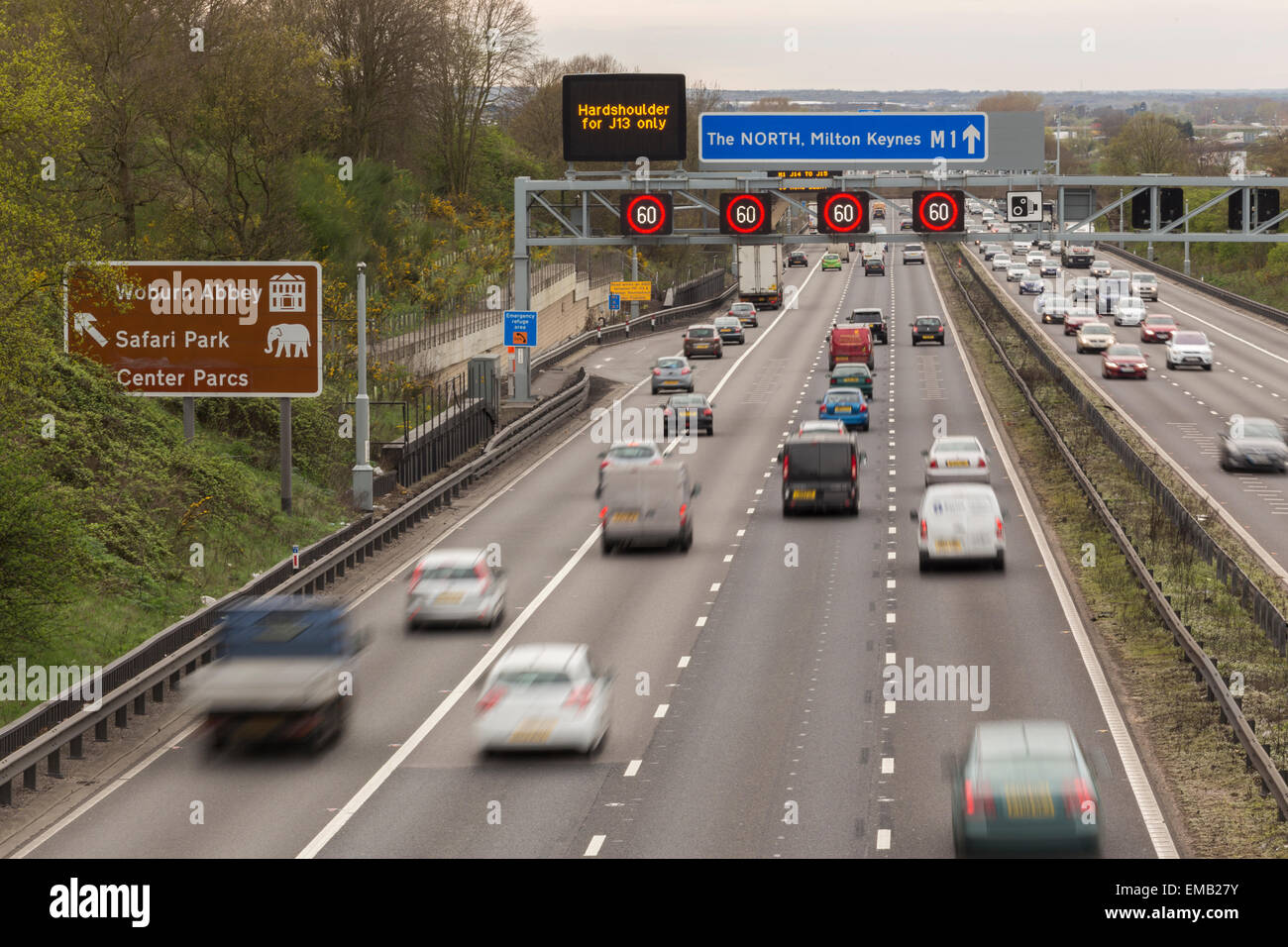 Smart Motorway Stock Photo