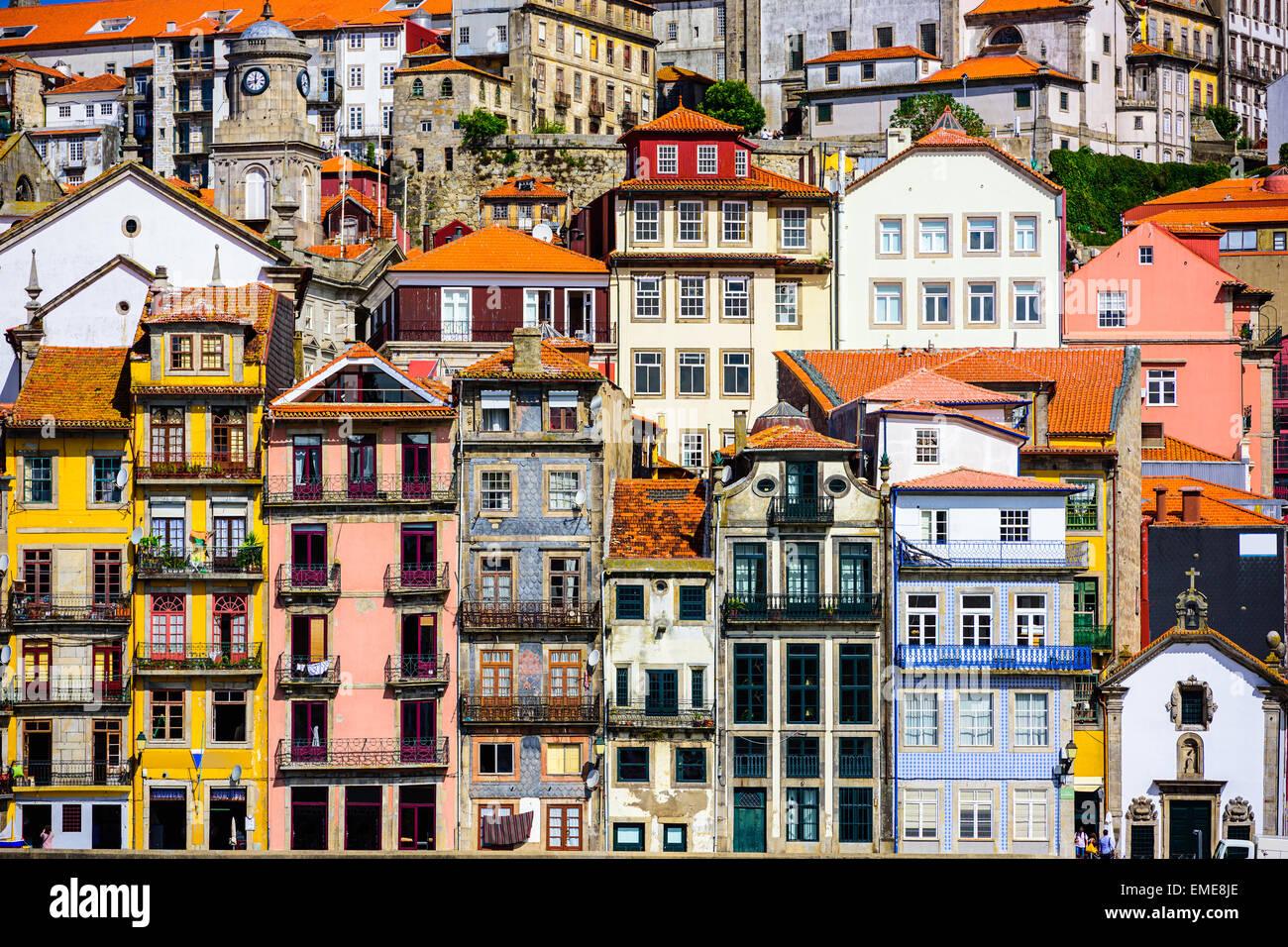 Porto, Portugal old buildings. - Stock Image