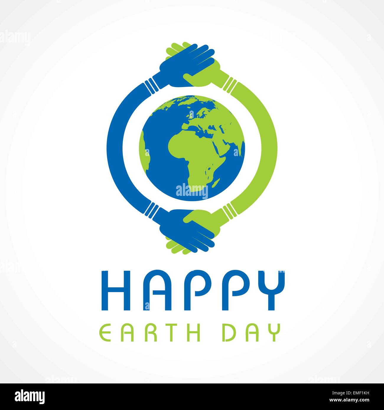 Creative Happy Earth Day Greeting stock vector - Stock Image