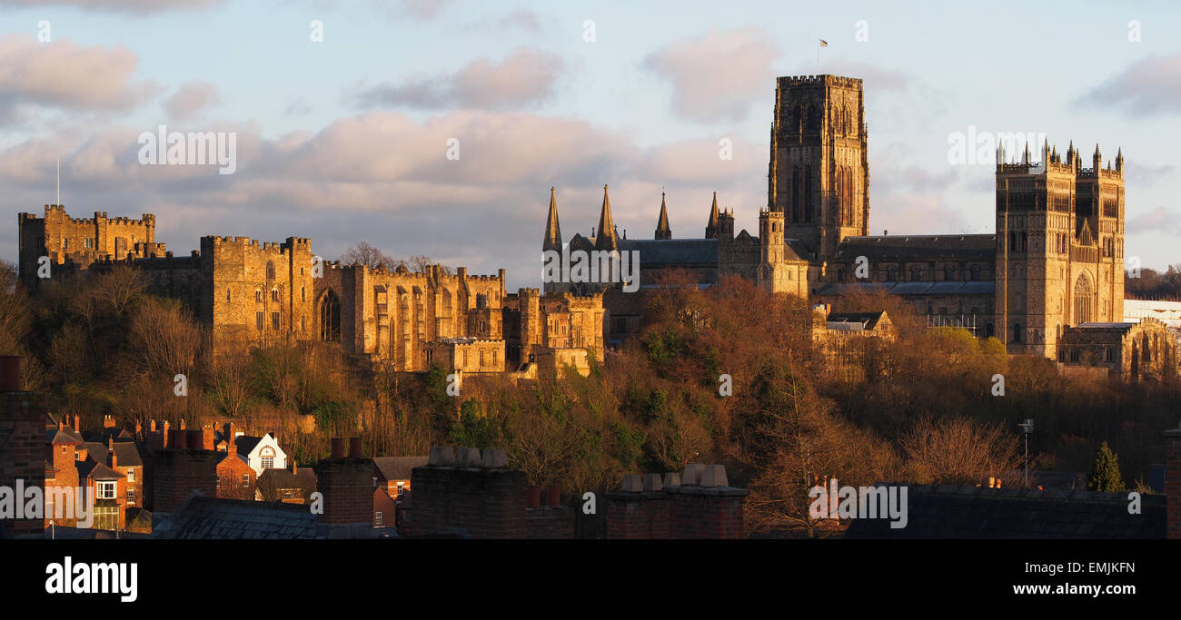 Durham Castle and Cathedral Stock Photo