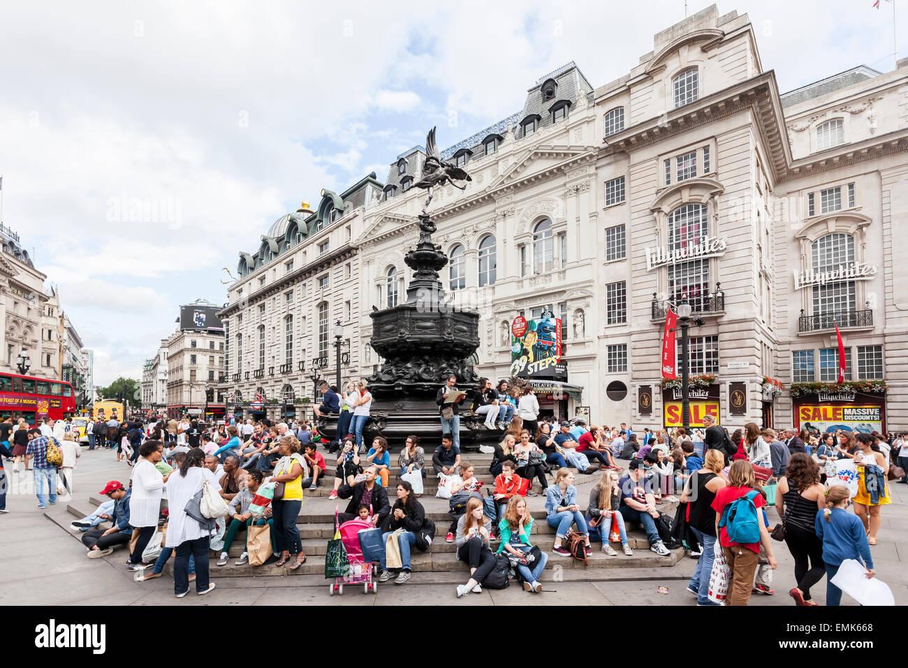 Piccadilly Circus, London, England, United Kingdom - Stock Image