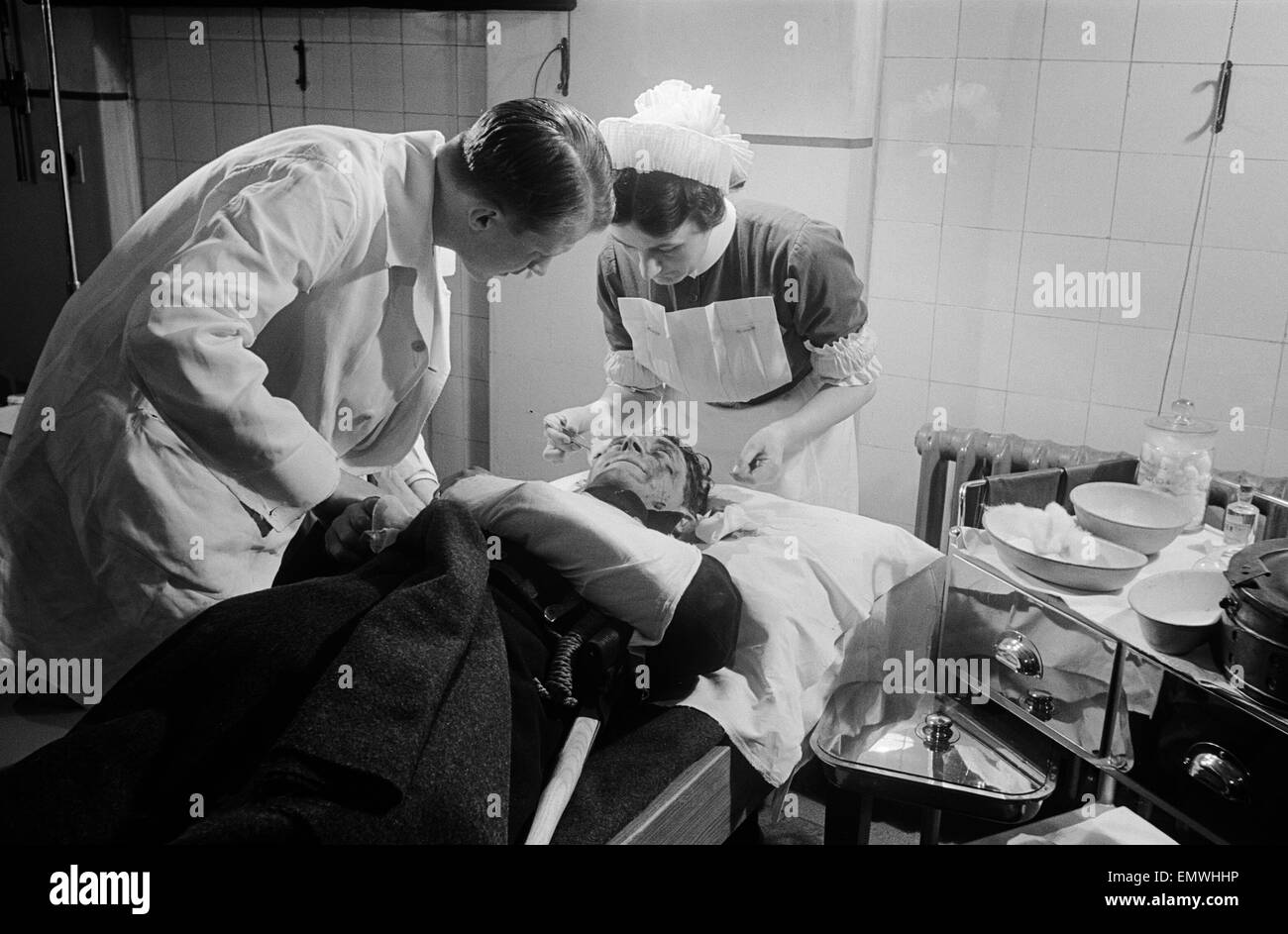 L.F.F Personnel receive attention at Westminster Hospital, 13 May 1942 - Stock Image