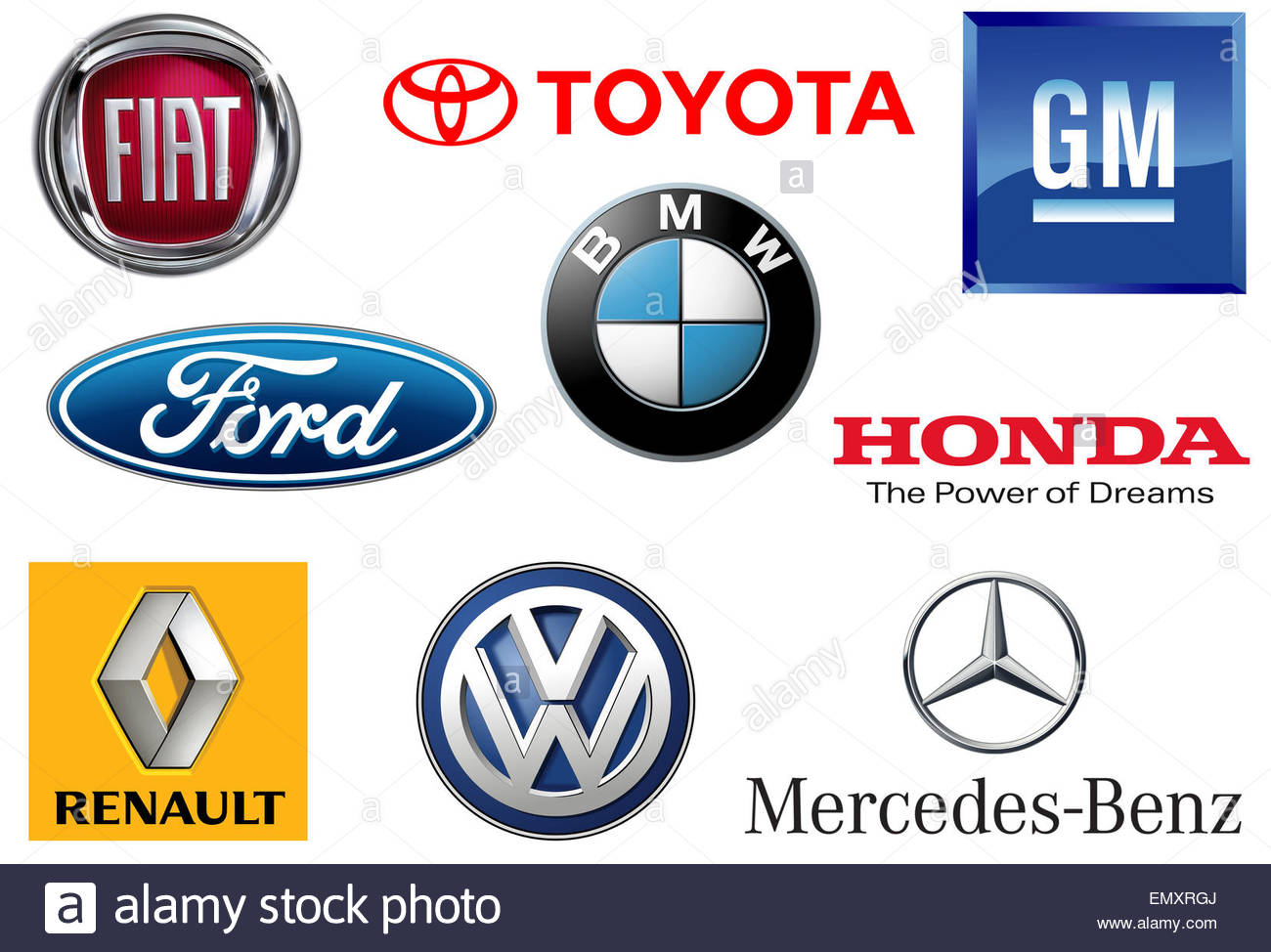 Toyota Volkswagen Gm General Motors Ford Bmw Mercedes Daimler Renault Stock Photo 81723842 Alamy