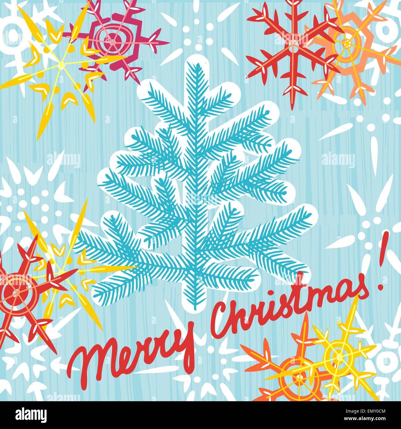 Christmas Greeting Card Postcard Editable Template Eps 10 Vector