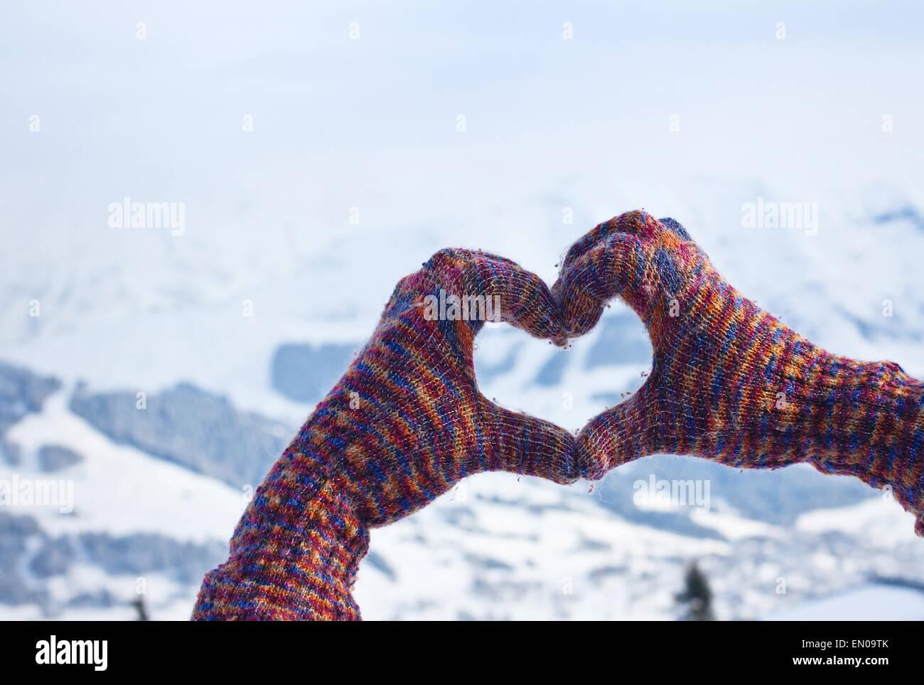 love winter - Stock Image