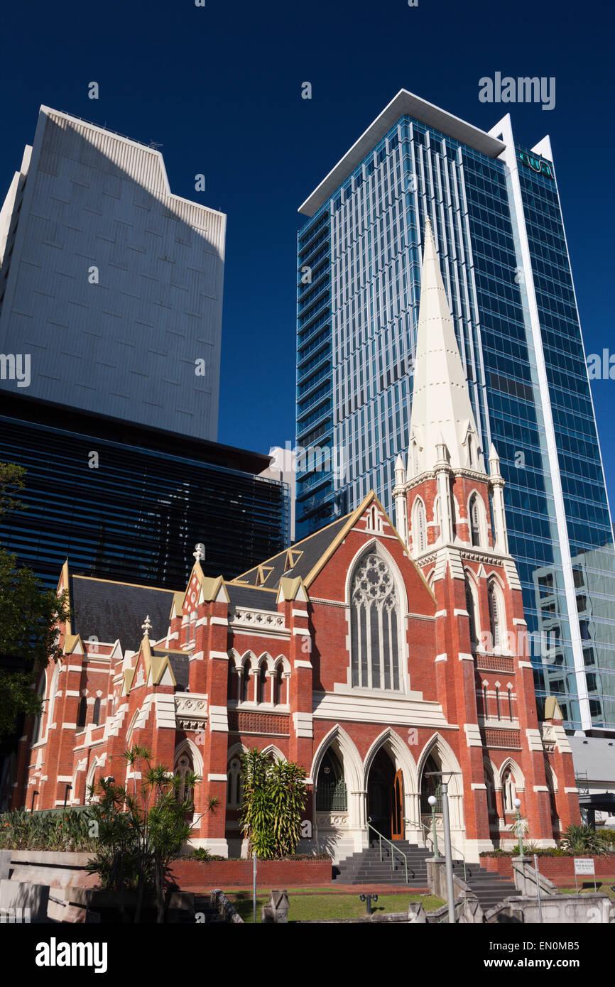 Albert Street Uniting Church, Brisbane, Australia - Stock Image
