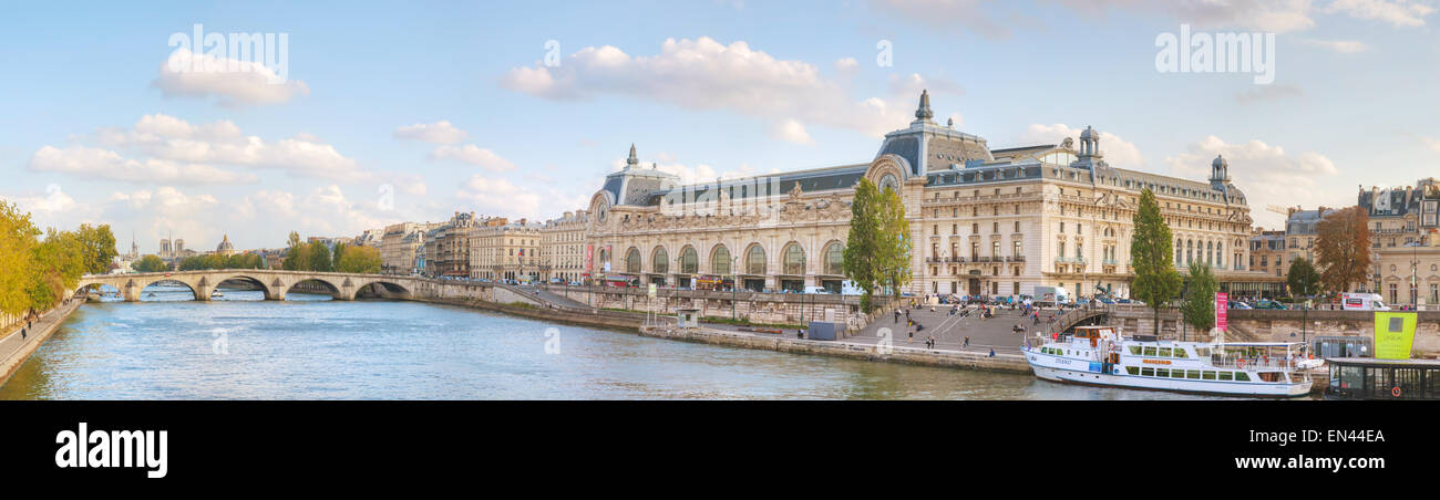 PARIS - OCTOBER 9: D'Orsay museum building on October 9, 2014 in Paris, France. - Stock Image