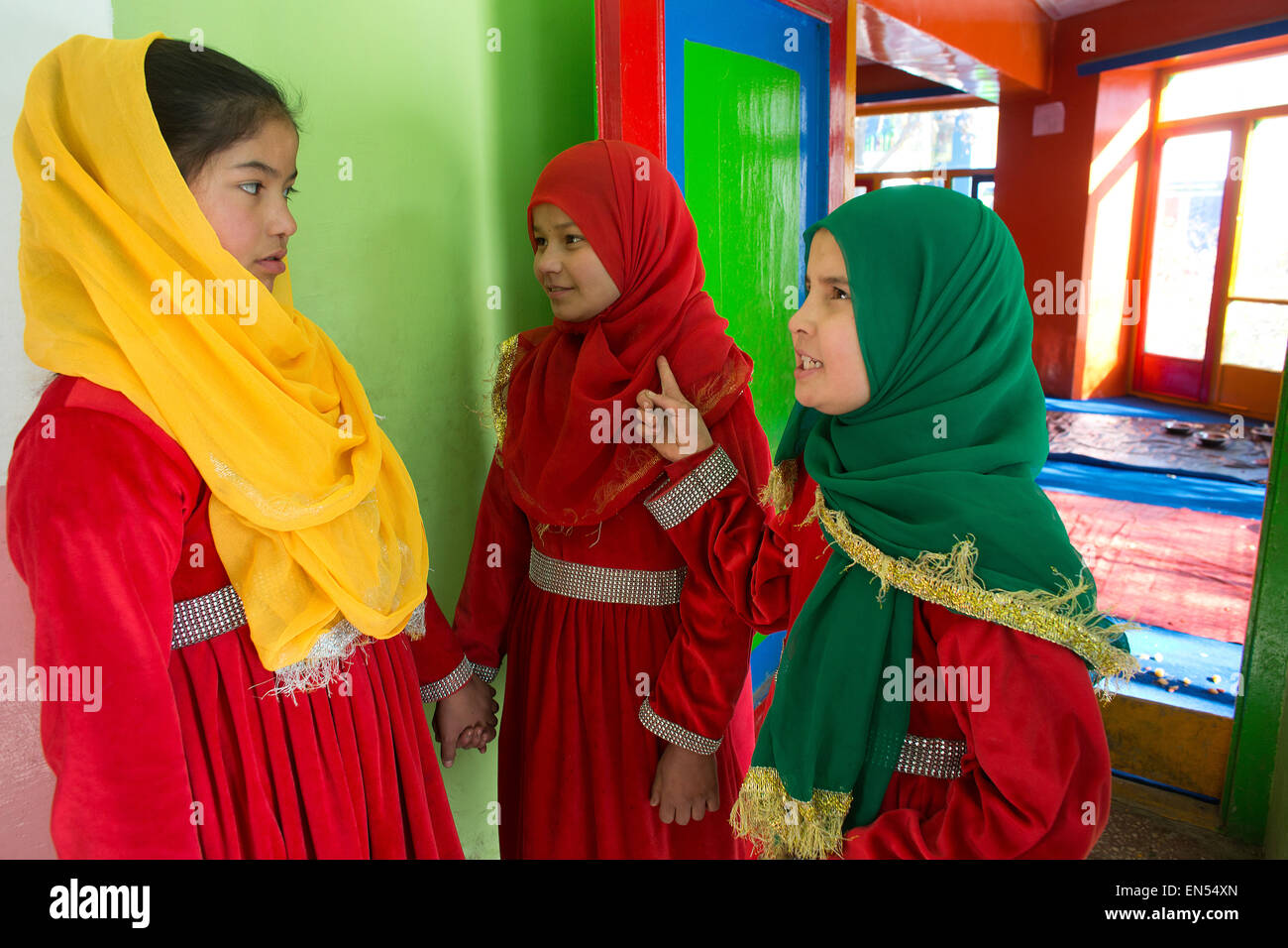female students in kabul - Stock Image