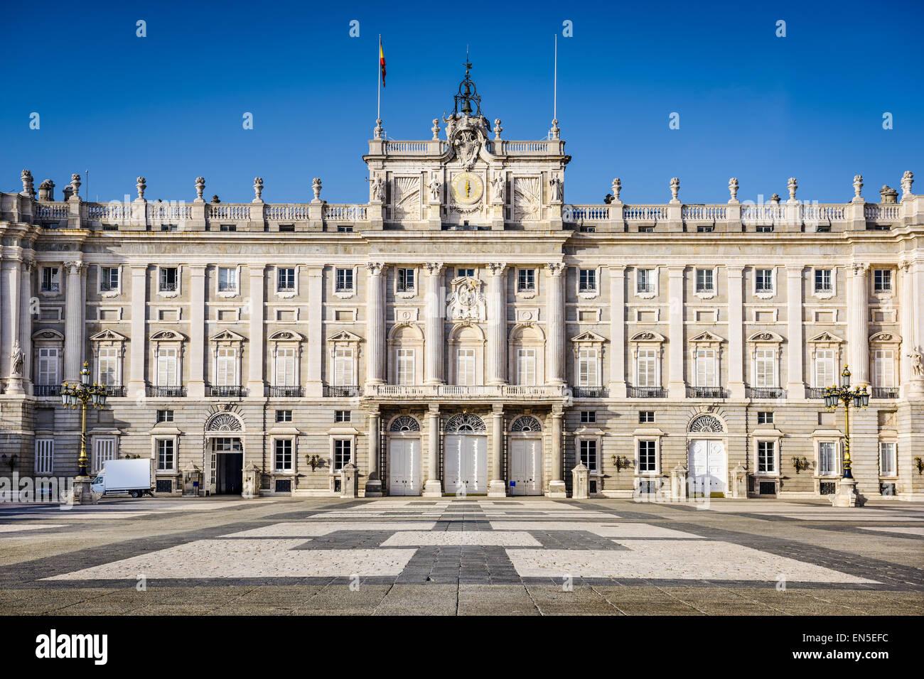 Madrid, Spain at the Royal Palace's courtyard. - Stock Image