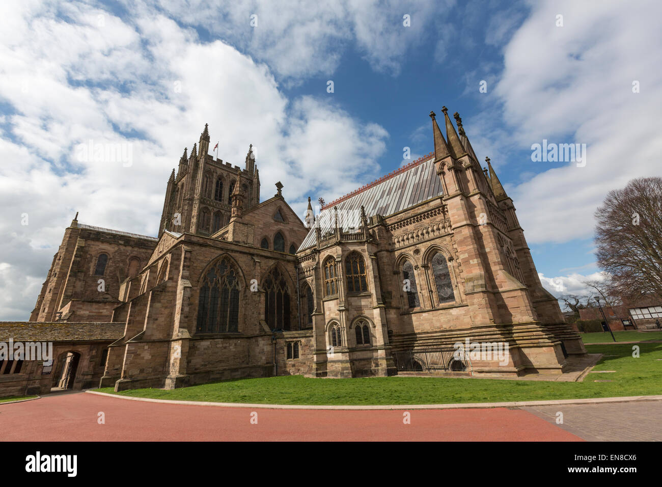 Hereford Cathedral, Herefordshire, United KingdomStock Photo