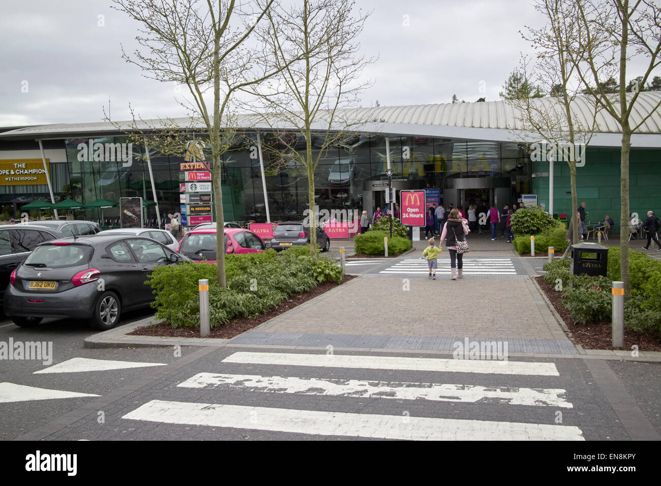 beaconsfield services m40 motorway service station england uk Stock Photo