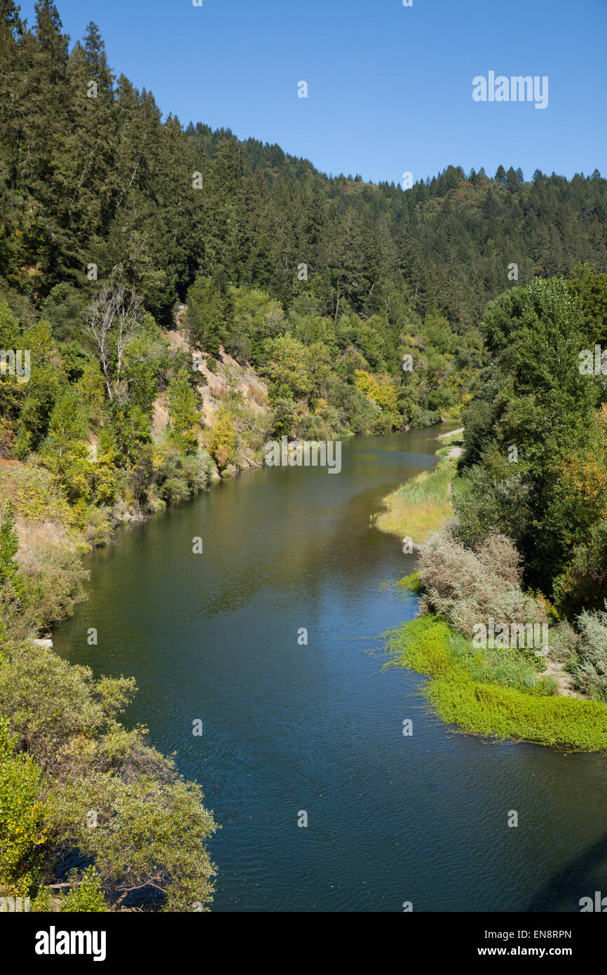 The Russian River near Guernville in Northern California. - Stock Image