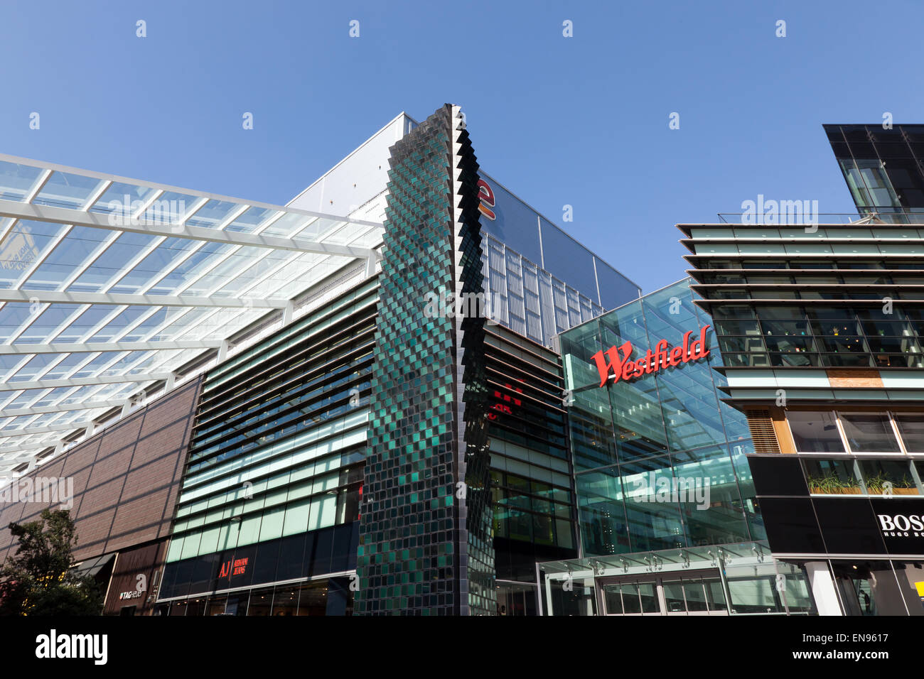 Part of the Westfield Shopping Centre Complex at Stratford London Stock Photo