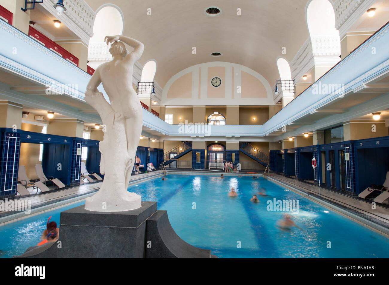 Schwimmbad Darmstadt nouveau indoor pool darmstadt germany jugendstilbad stock