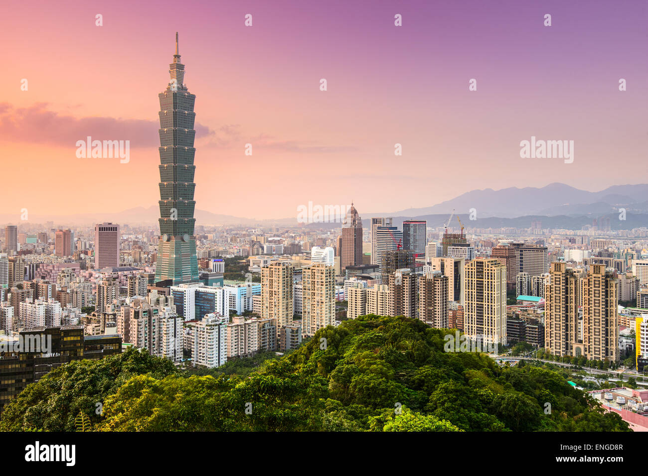 Taipei, Taiwan skyline of the Xinyi District. - Stock Image