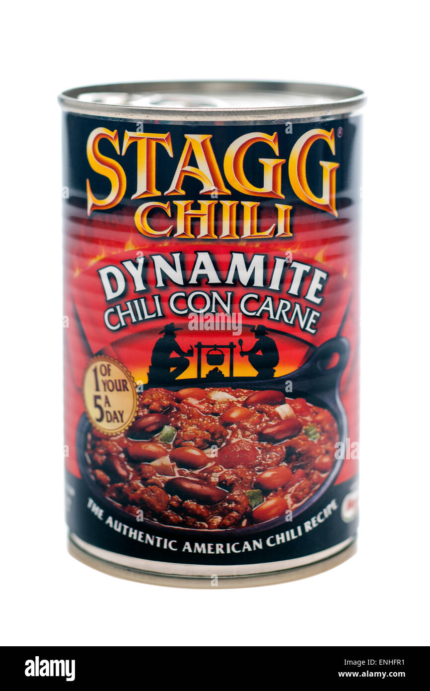Can of Stagg Dynamite chili con carnne - Stock Image
