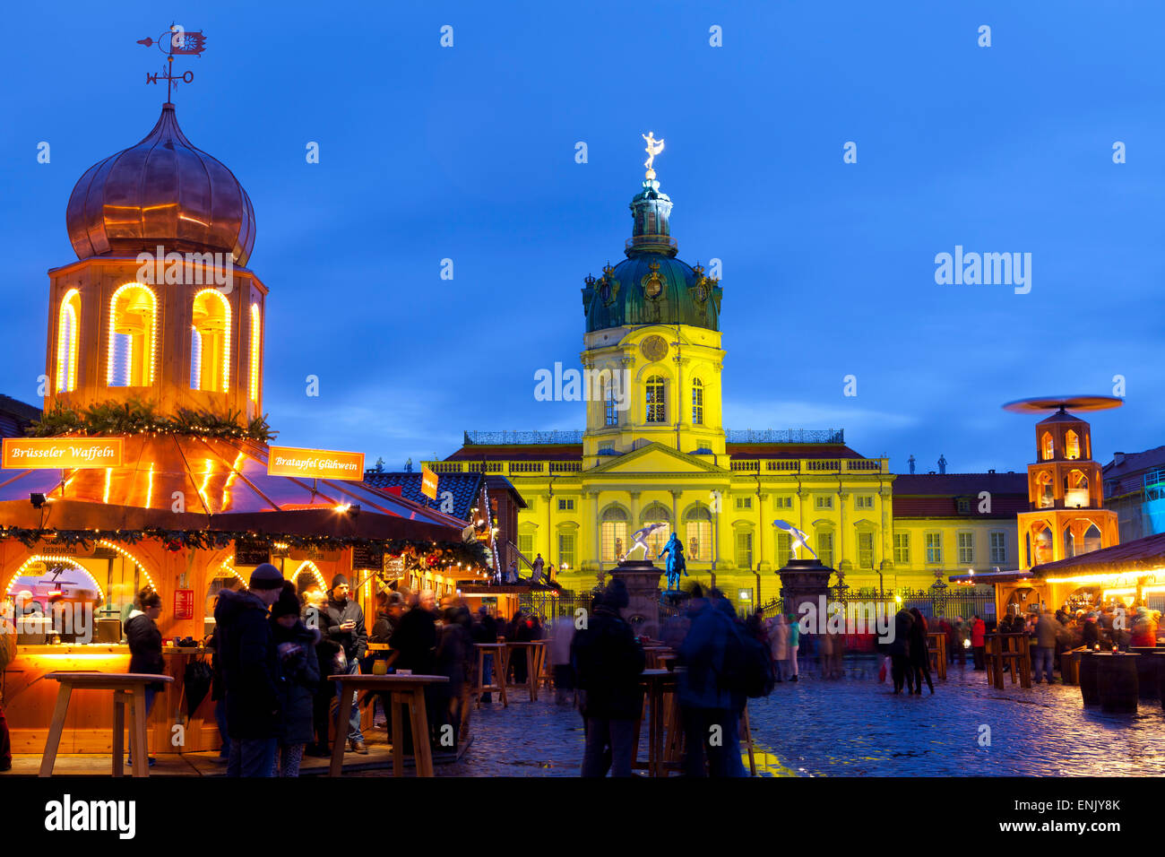 Christmas Market in front of Charlottenburg Palace, Berlin, Germany, Europe - Stock Image