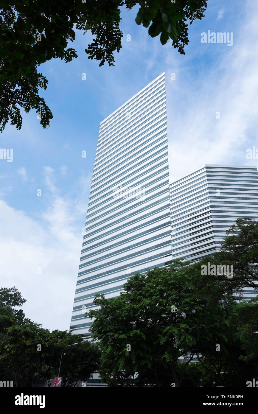The angular designed Gateway Building in Singapore, Southeast Asia, Asia - Stock Image