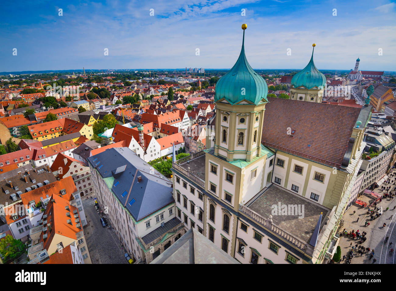 Augsburg, Germany old town cityscape. - Stock Image