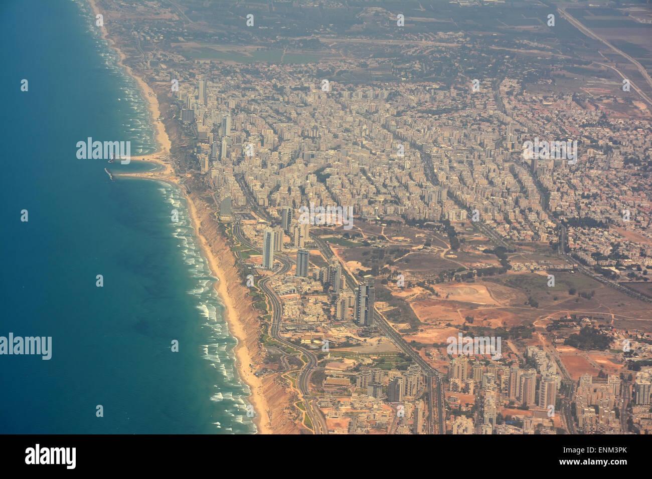 Netanya aerial  view, Israel - Stock Image