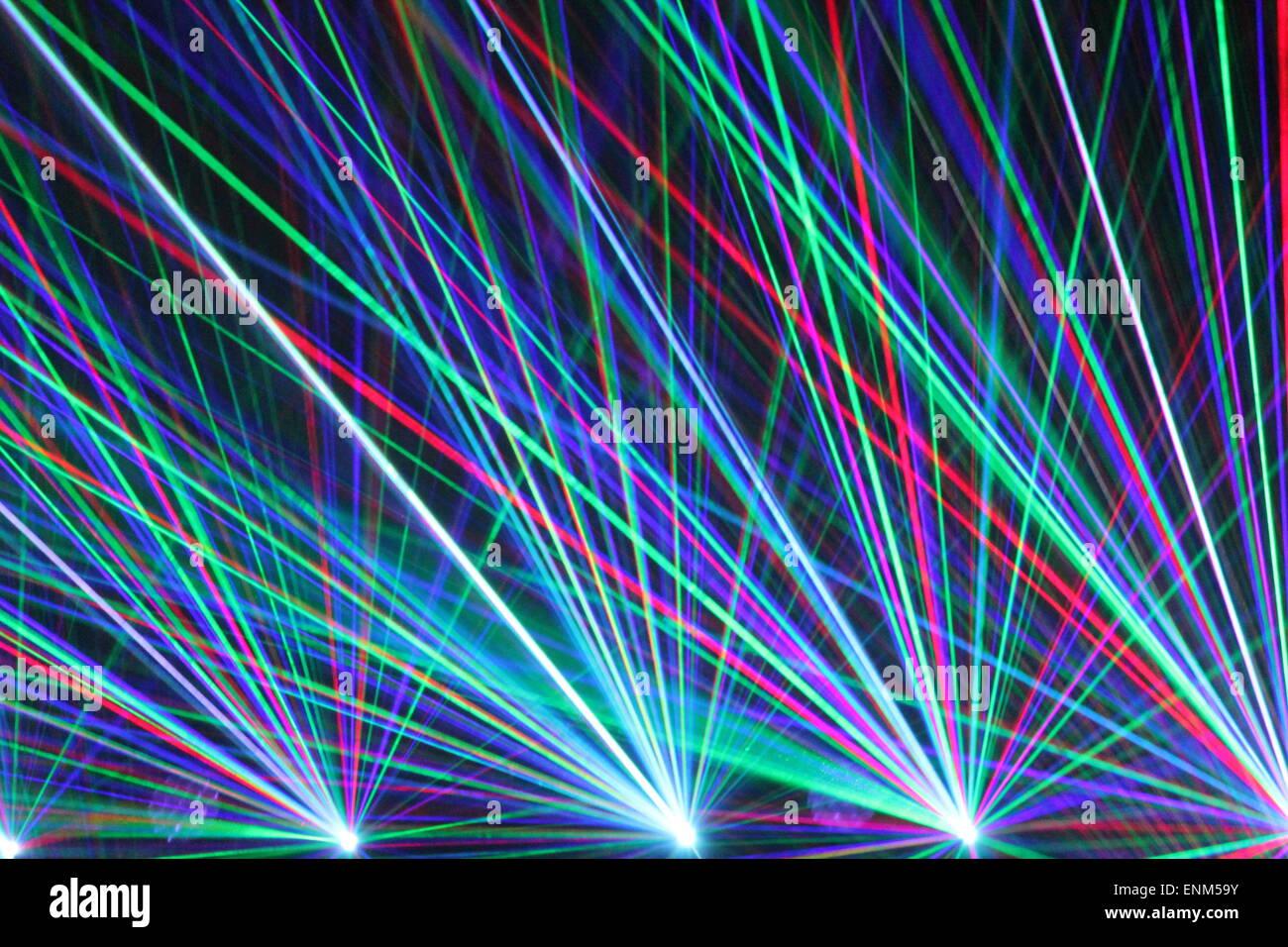 Fancy Club Light Effects In A Dark Background Stock: Laser Lights In Nightclub Laser, Light, Club, Clubbing
