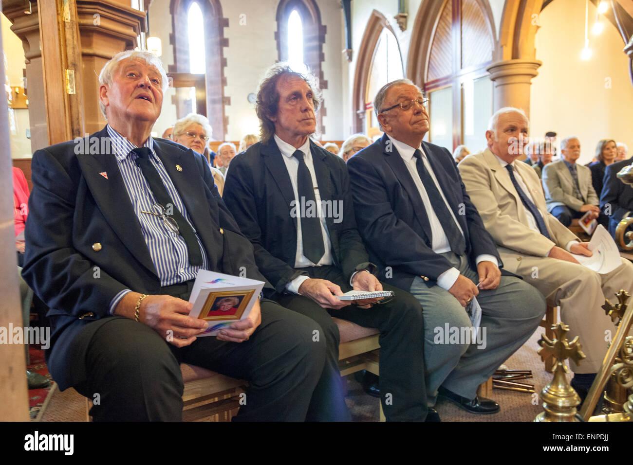 Holy Trinity Church, Chesterton, UK. 8 May 2015. Husband Colin Gregory, Stoke City, Everton and Aston Villa footballer - Stock Image