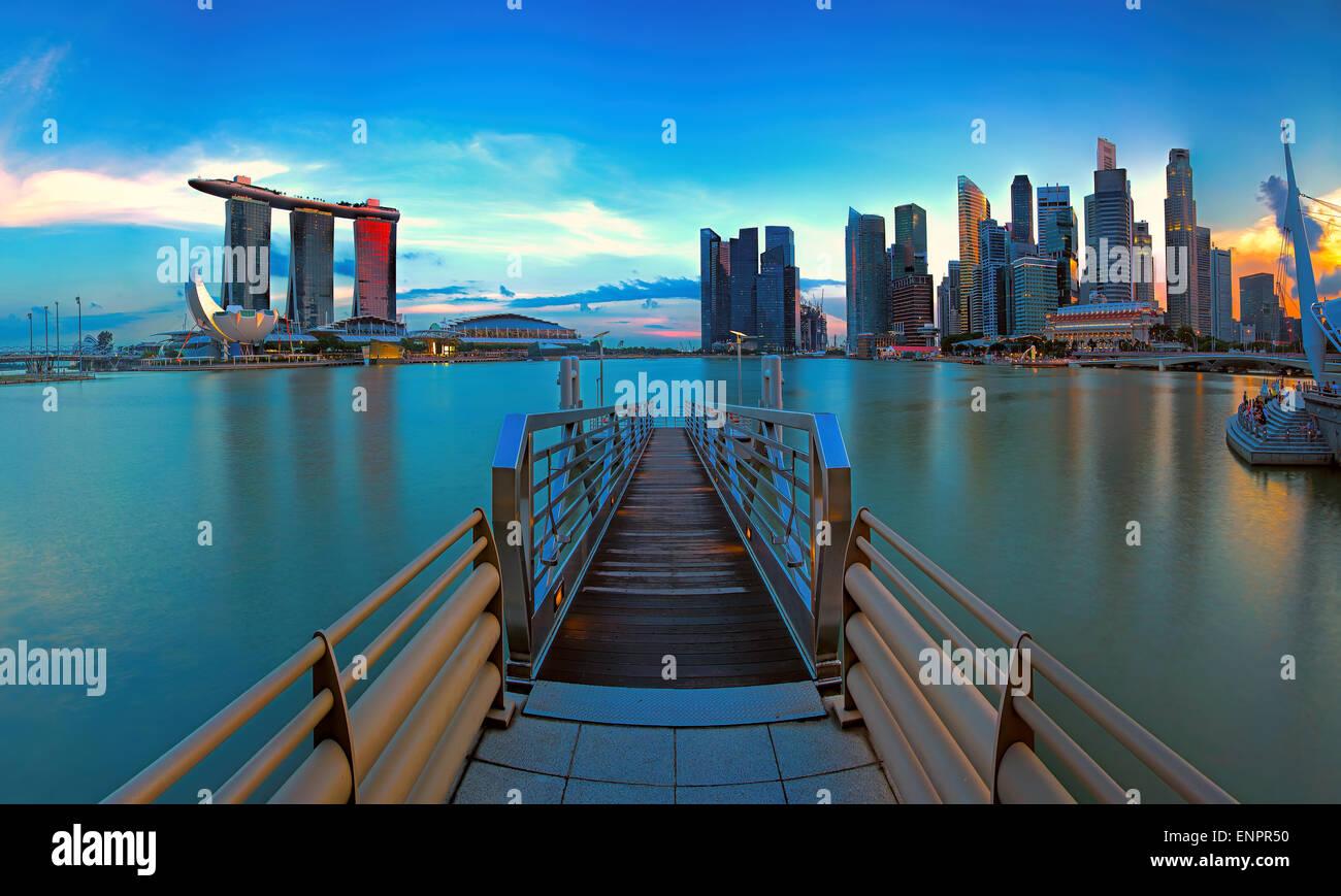 Singapore skyline - Stock Image