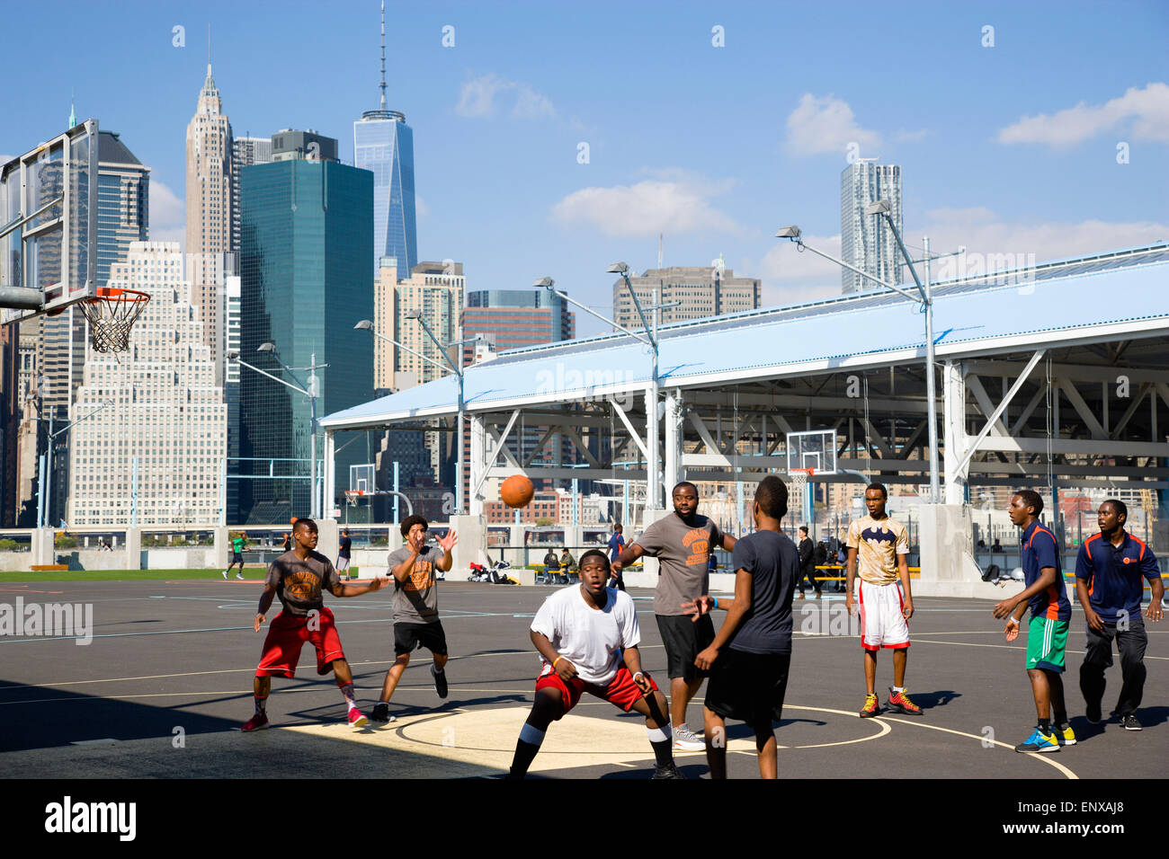 Rooftop Basketball Court New York City