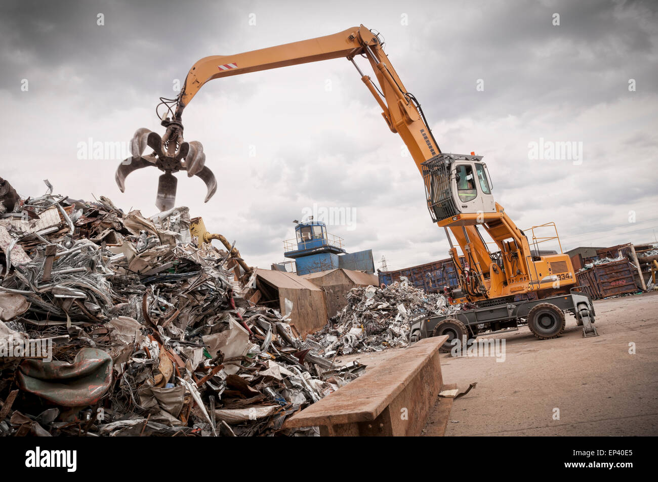 Metal recycling yard - Stock Image