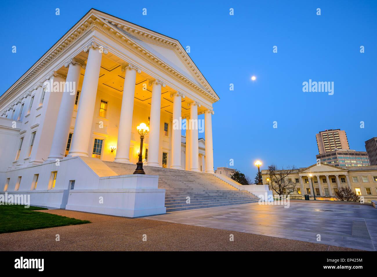 Richmond, Virginia, USA at the Capitol Building. - Stock Image