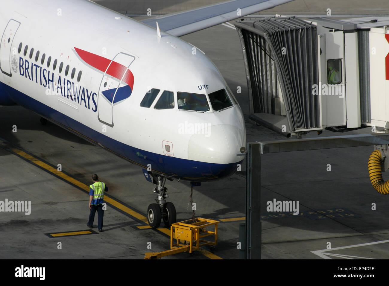 BRITISH AIRWAYS TERMINAL 5 HEATHROW - Stock Image