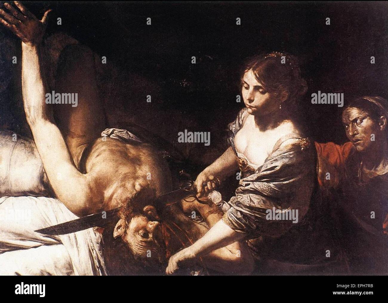 Valentin de Boulogne  Judith and Holofernes - Stock Image