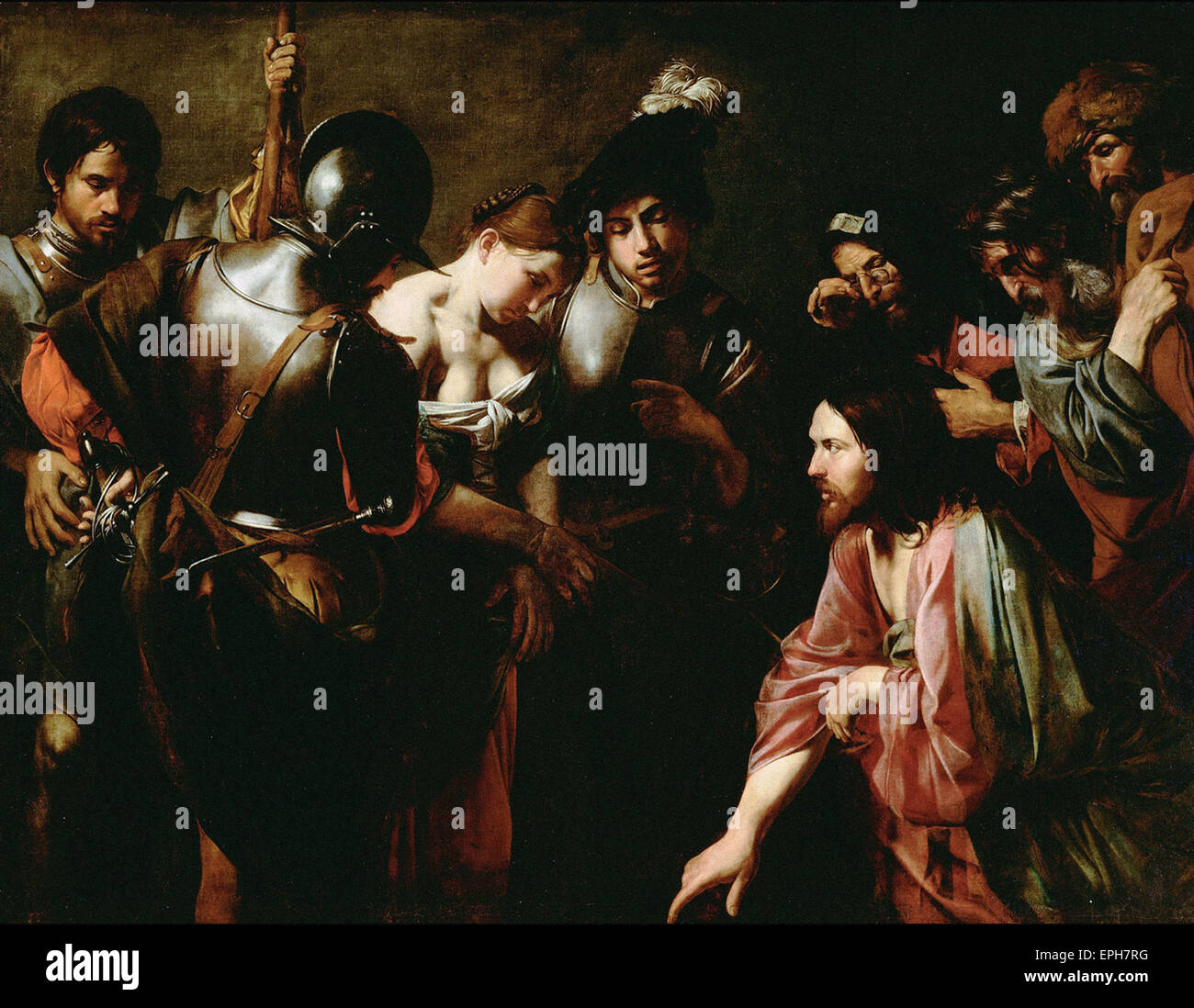 Valentin de Boulogne  Christ and the Adulteress - Stock Image
