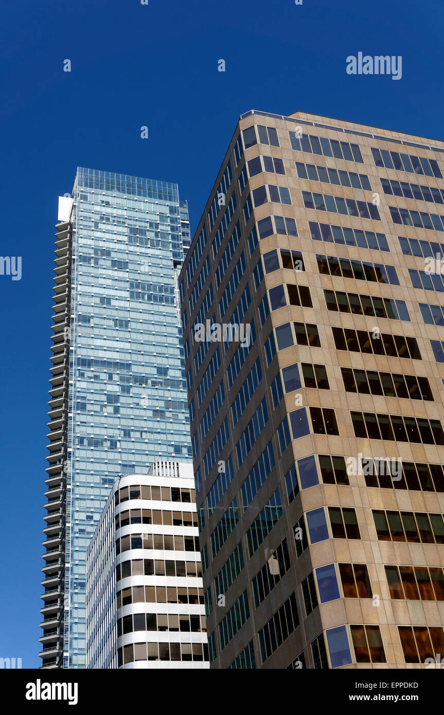 Modern office towers in Vancouver, BC, Canada - Stock Image