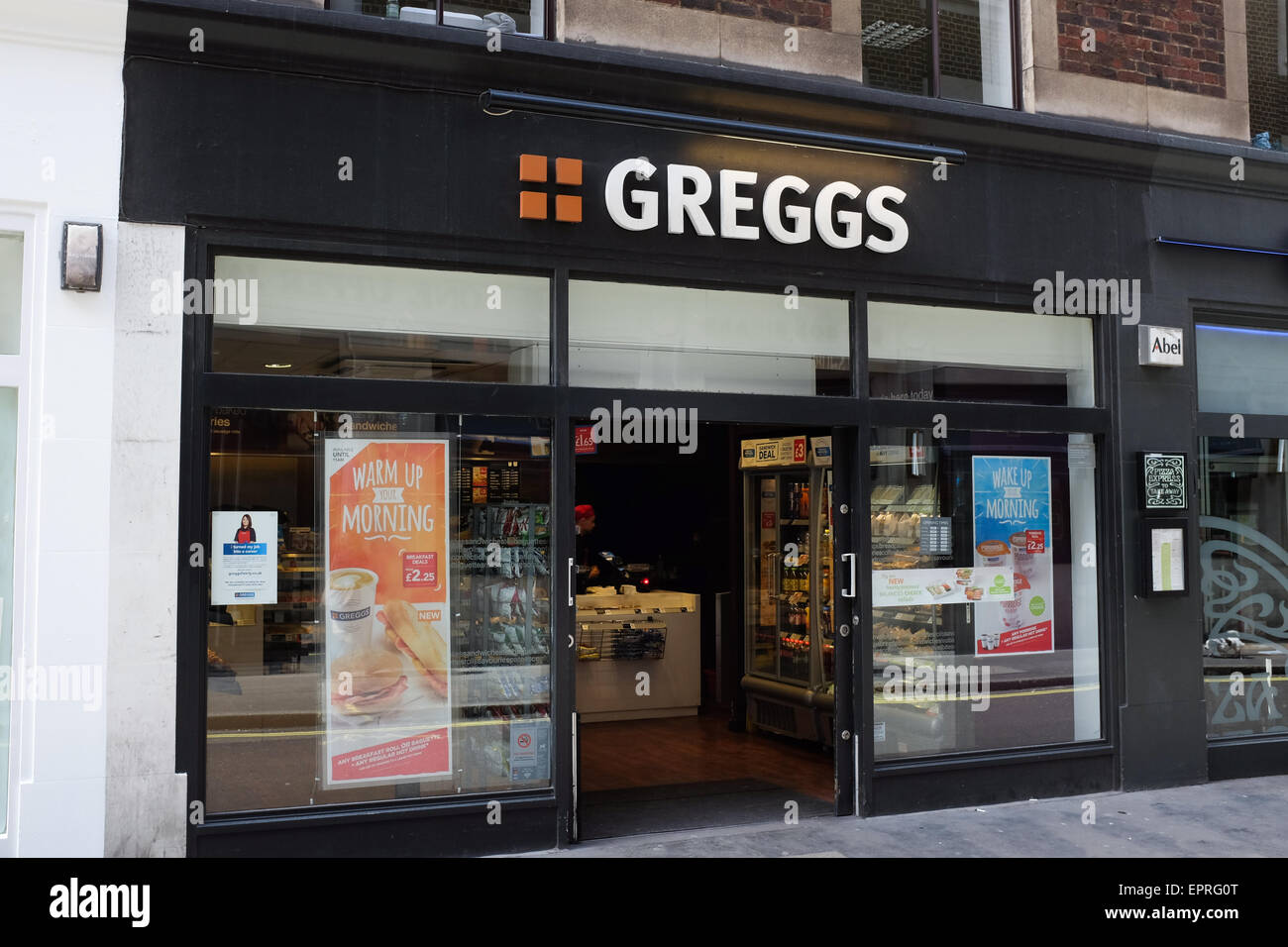 Greggs the baker. Stock Photo