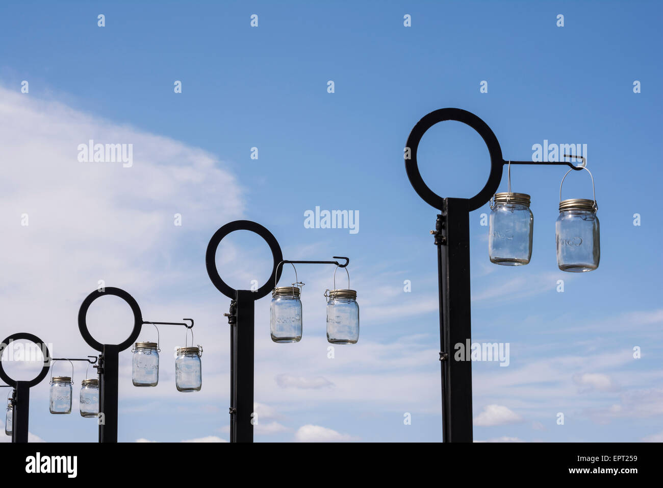 Superior Solar Lights Hanging In The Sun To Charge