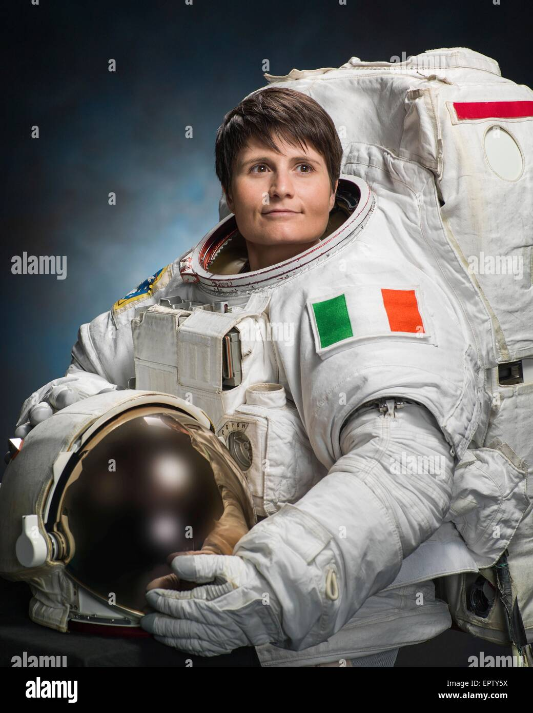 Astronaut Samantha Cristoforetti Of The European Space Agency Stock