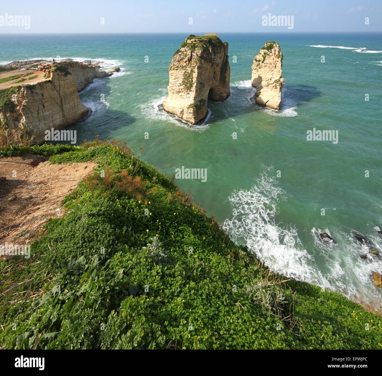 Beirut Raouche - Stock Image