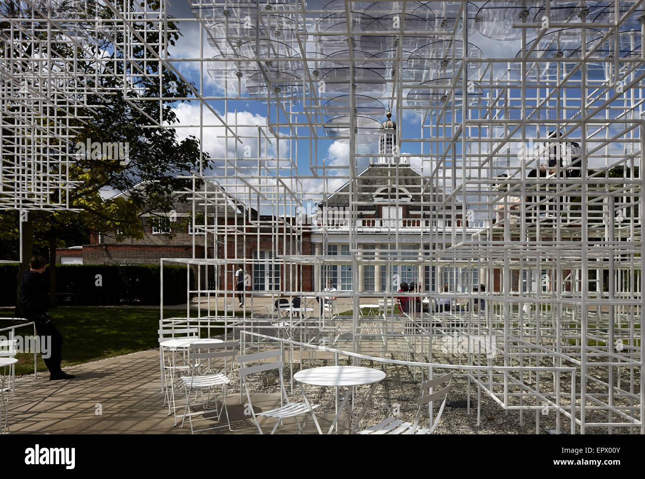 Temporary architectural installation, the Serpentine Pavilion 2013, Kensington Gardens, London, England, UK - Stock Image
