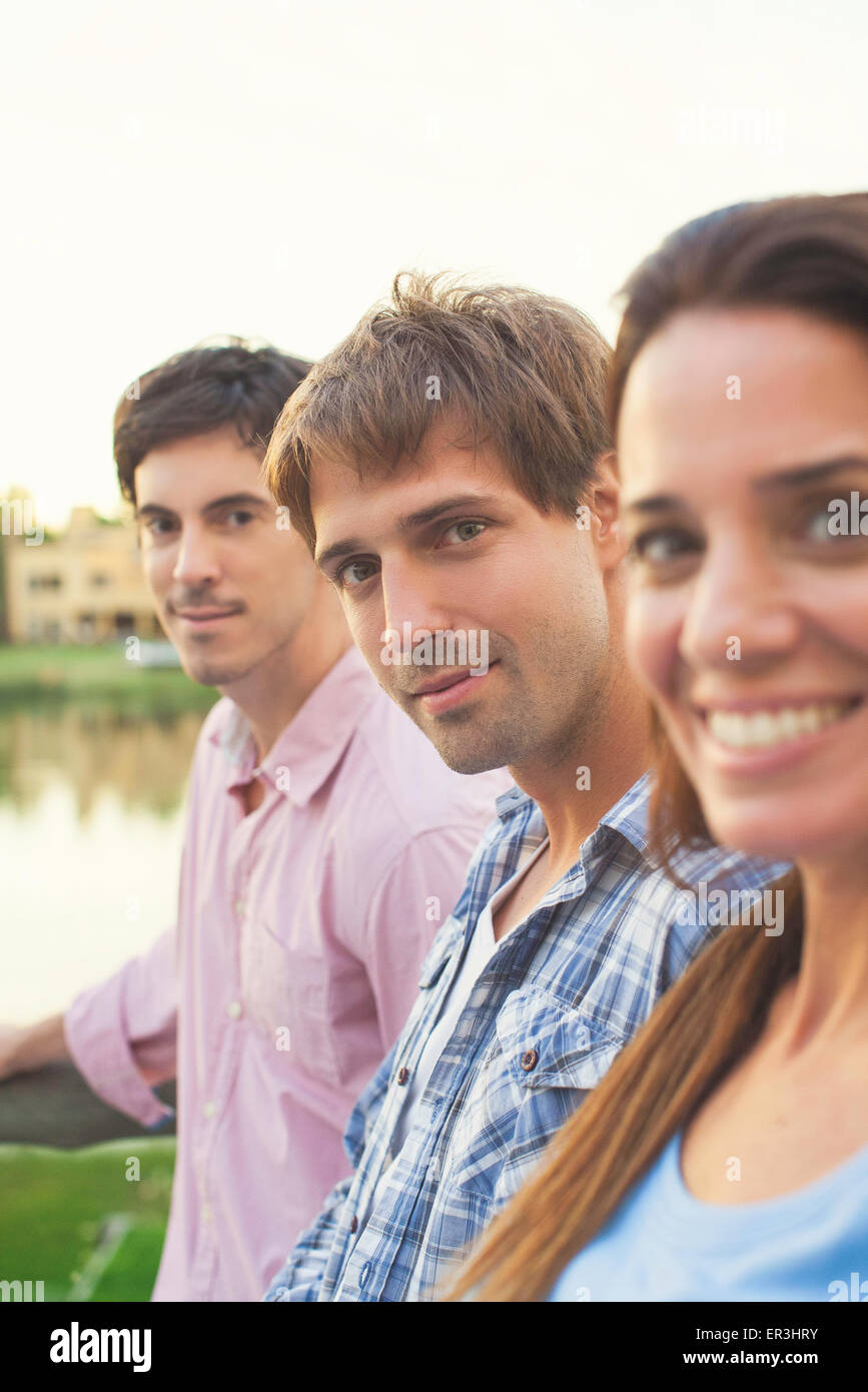 College students traveling abroad - Stock Image