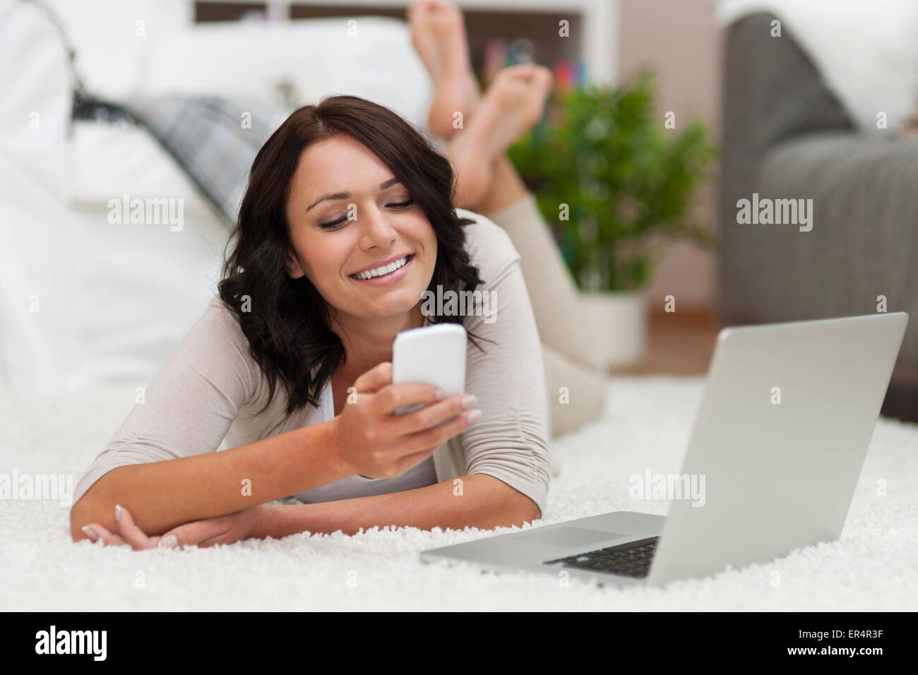 Connecting with friends has never been easier. Debica, Poland - Stock Image