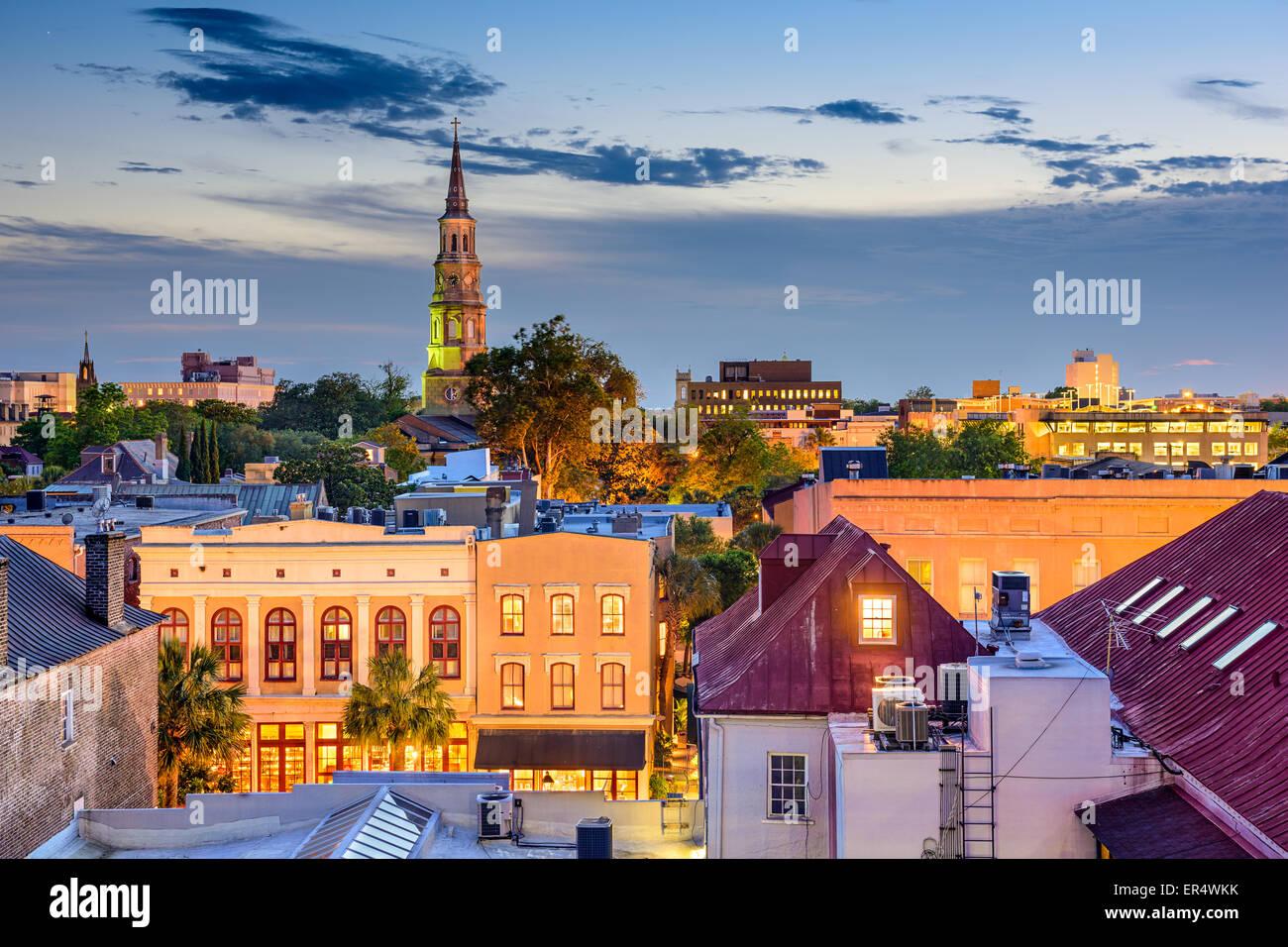 Charleston, South Carolina, USA town skyline. - Stock Image
