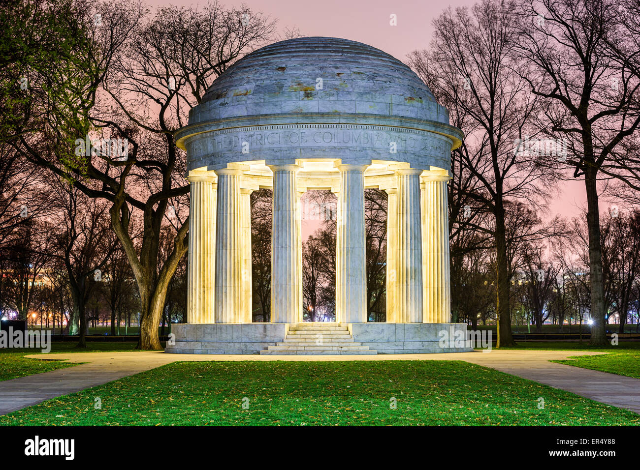Washington, DC at the DC War Memorial, honoring citizens of the District of Columbia who served in World War I. - Stock Image