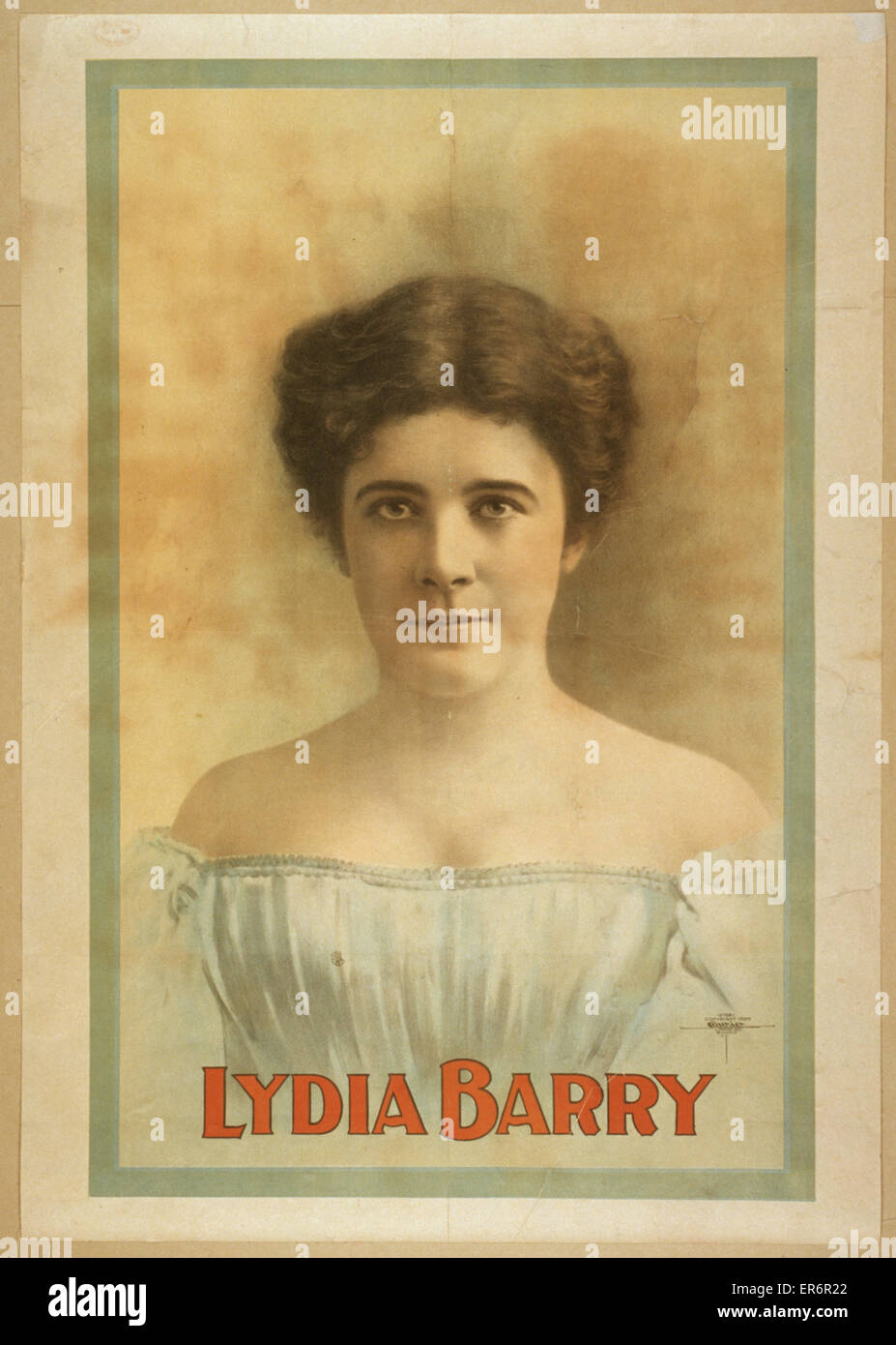 Lydia Barry. Date c1899. - Stock Image