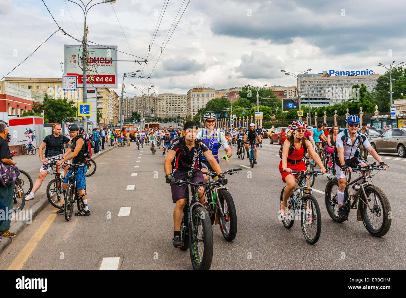 By bike in Moscow